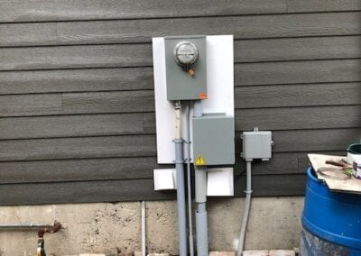 Electric board in streed